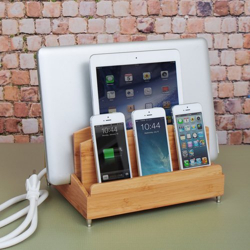 Zen Ultra Charging Station and Dock with Built-in Power Strip Storage