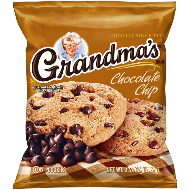 Grandma S Chocolate Chip Cookies 2 875 Oz Bag Walmart Com Walmart Com