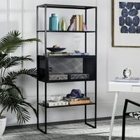 Safavieh Abay 31.5''W Rustic Solid Storage Bookshelf, Black