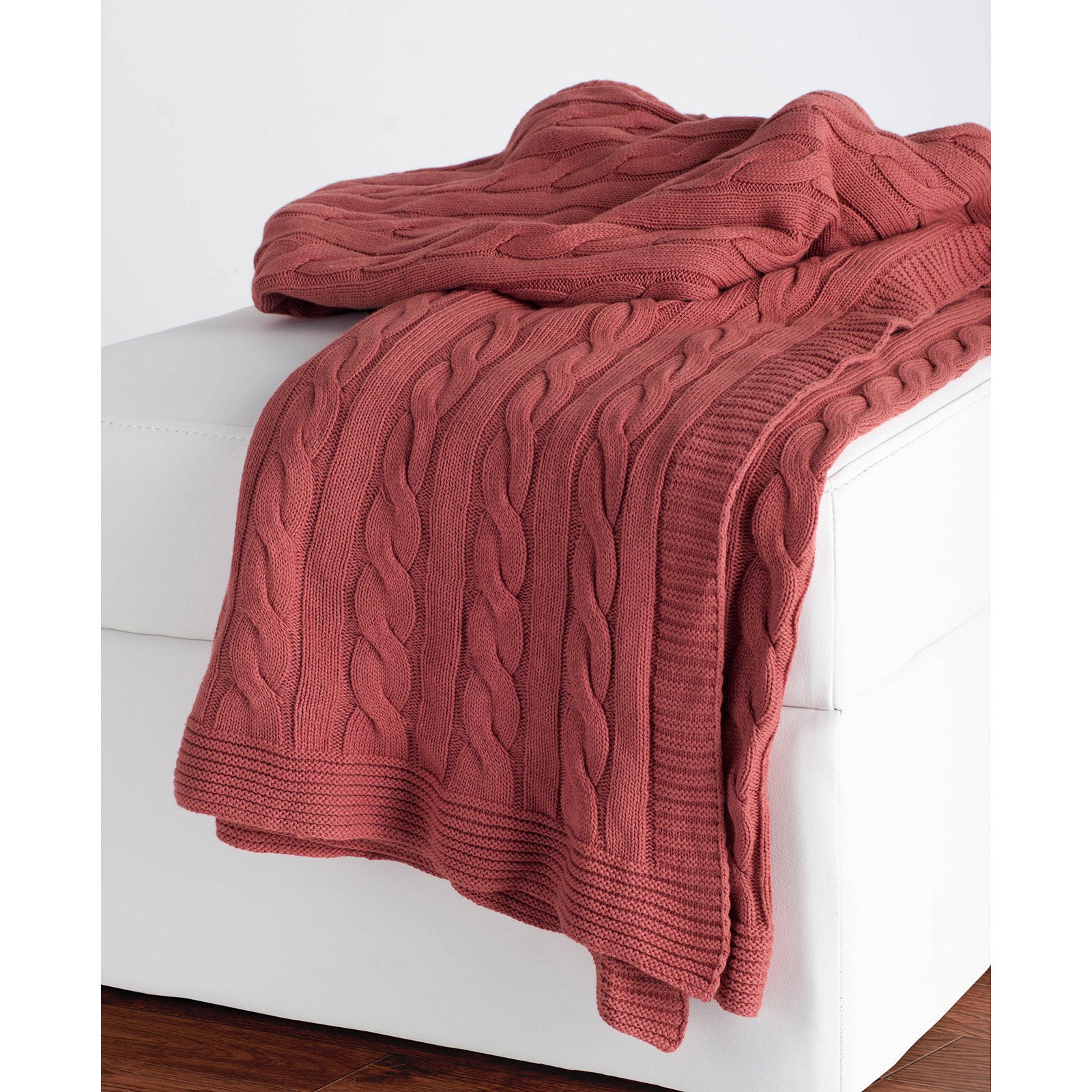 Rizzy Home Cable Knit Cotton Luxury Sweater Throw Blanket - Walmart.com