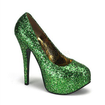 TEEZE-06G, Glitter Concealed  Pump - Cheap Bordello Shoes