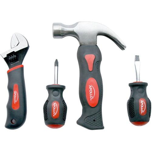 Apollo Precision Tools 4-Piece Stubby Tool Set