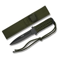 "FIXED BLADE SURVIVAL KNIFE | Survivor 7"" Small Double Edge Blade Tactical"