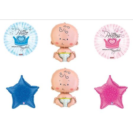 Welcome Prince and Princess Twin Baby shower Balloon Decorating Kit Supplies