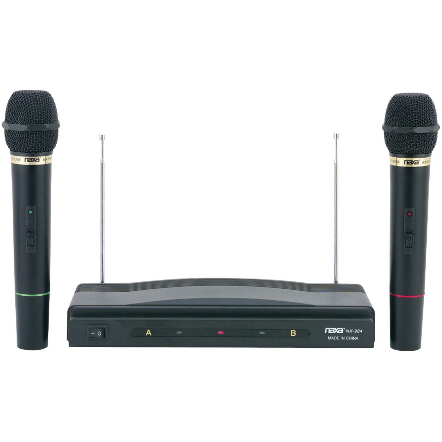 Naxa NAXM984 Professional Dual Wireless Microphone Kit by Naxa