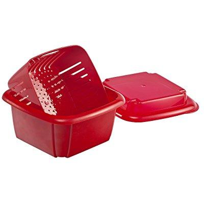 hutzler 3-in-1 berry box, red - Berry Boxes