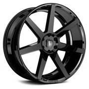 "26"" Inch 5x115 Wheel Rim STATUS JOURNEY 26x10 +15mm Gloss Black Machined"