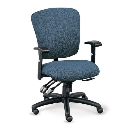 Forward Furniture Sequence Ergonomic Fabric Office Chair - Commercial Grade - Memory Foam Seat - Adjustable Back, Seat, and Arms - 5 Dual - wheel Hard Casters - Blue Chip