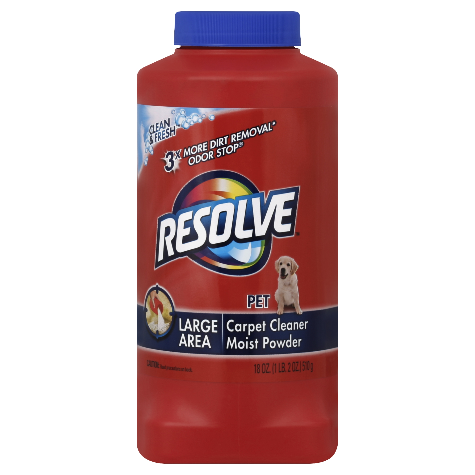 Resolve Pet Formula Carpet Cleaner Moist Powder, 18 Ounce
