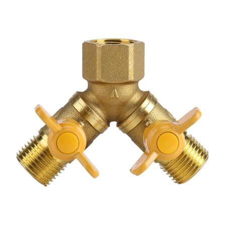 - Yosoo G1/2 Brass Garden Irrigation 2 Way Double Tap Hose Adapter Dual Faucet Connector, 2 Way Tap Connector Adapter, Dual Tap Connector