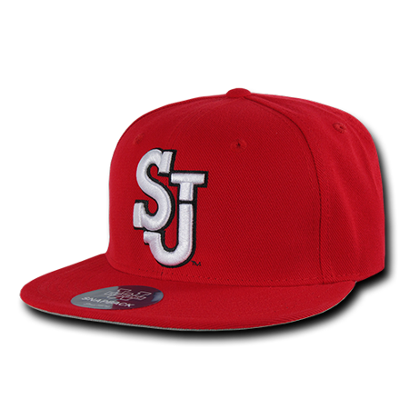 NCAA St John's University University Freshmen College Fitted Caps Hats 7 Red
