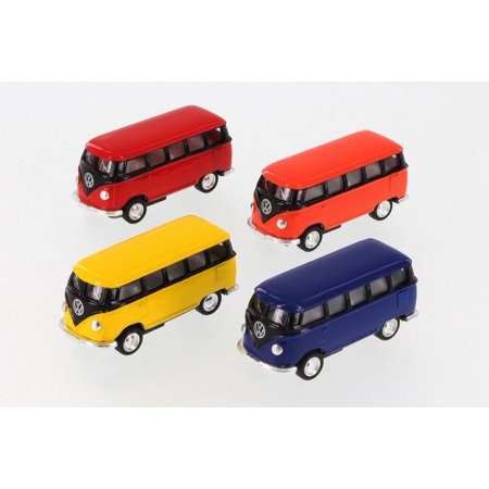 Vw Bus Accelerator - 1962 VW Bus, Assorted Diecast Toys - Set of Four 2.5 Inch Model Cars, 1962 VW Bus, Assorted Diecast Toys - Set of Four 2.5 Inch Model Cars includes: By Kinsmart From USA