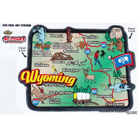 Wyoming State Map Die Cut Sticker