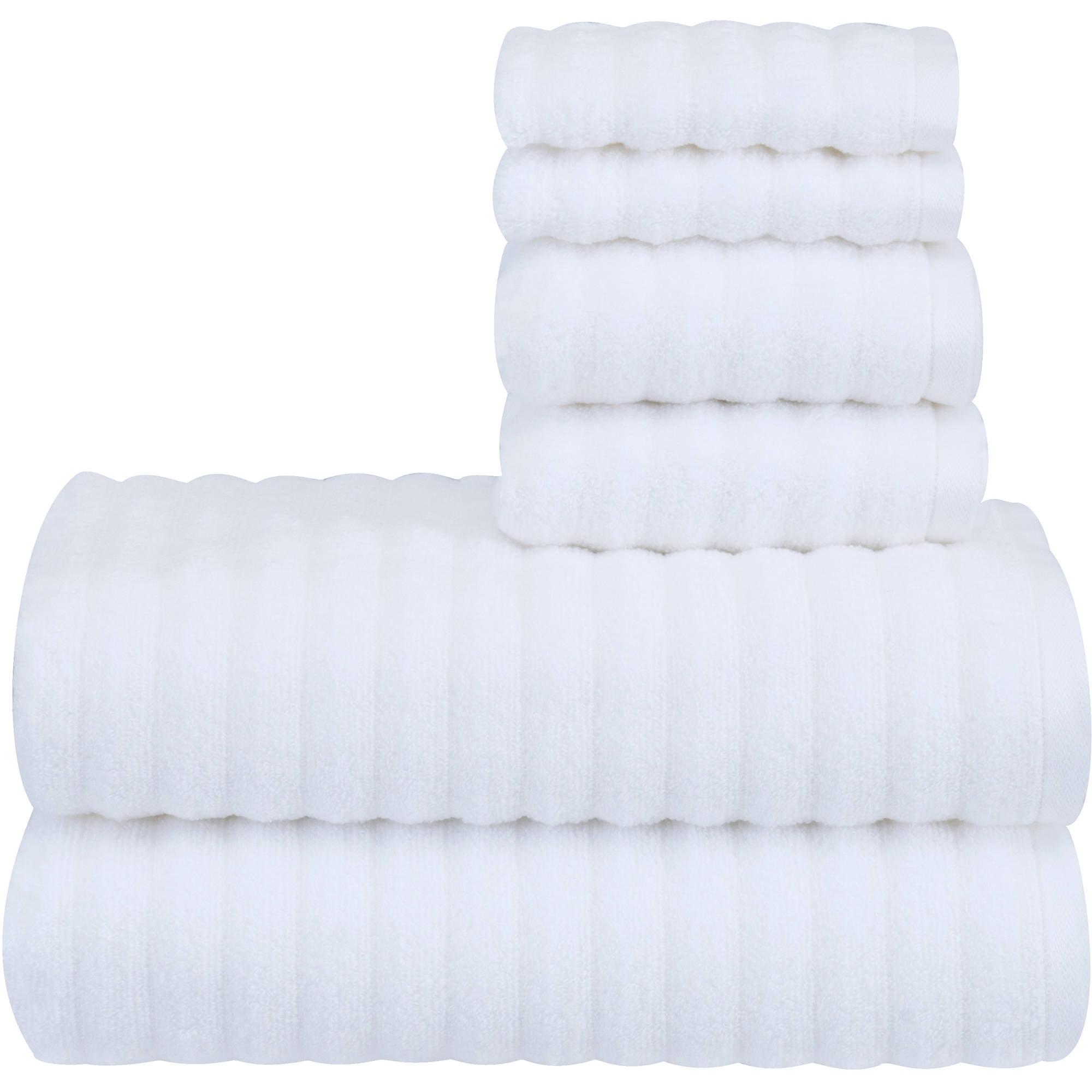 Mainstays Textured Performance Towel - 6 Piece Set