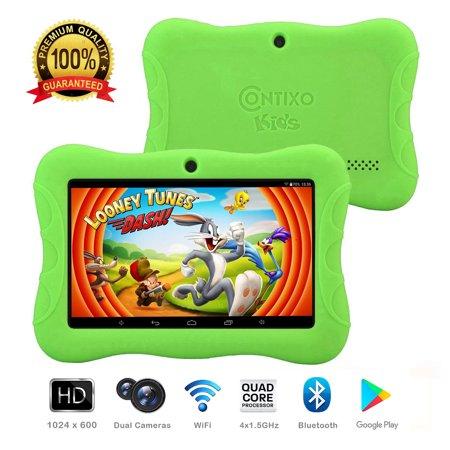 Contixo K3-Green K3 7-Inch Kids HD Tablet (Green) ()