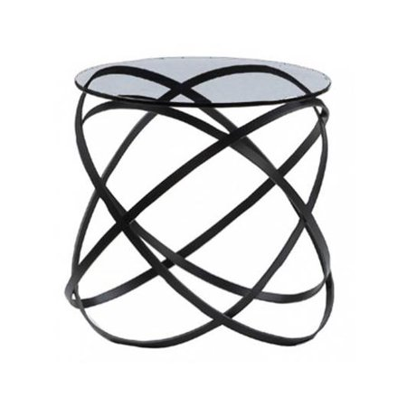 - Infinity Side Table in Black Lacquer Finish