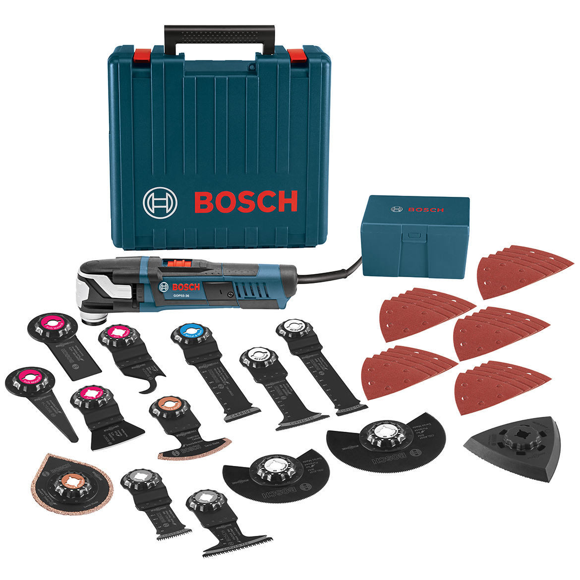 Bosch GOP55-36C2 5.5-Amp Aluminum Starlock Max Oscillating Multi-Tool Kit - 40pc