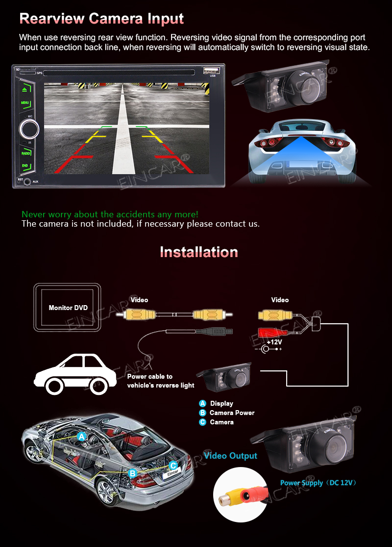 Eincar Double Din Car Stereo with Win CE 6 2 Inch HD Capacitive Touch  Screen Support Steering Wheel Control Bluetooth SD USB Connection Auto  Radio RDS