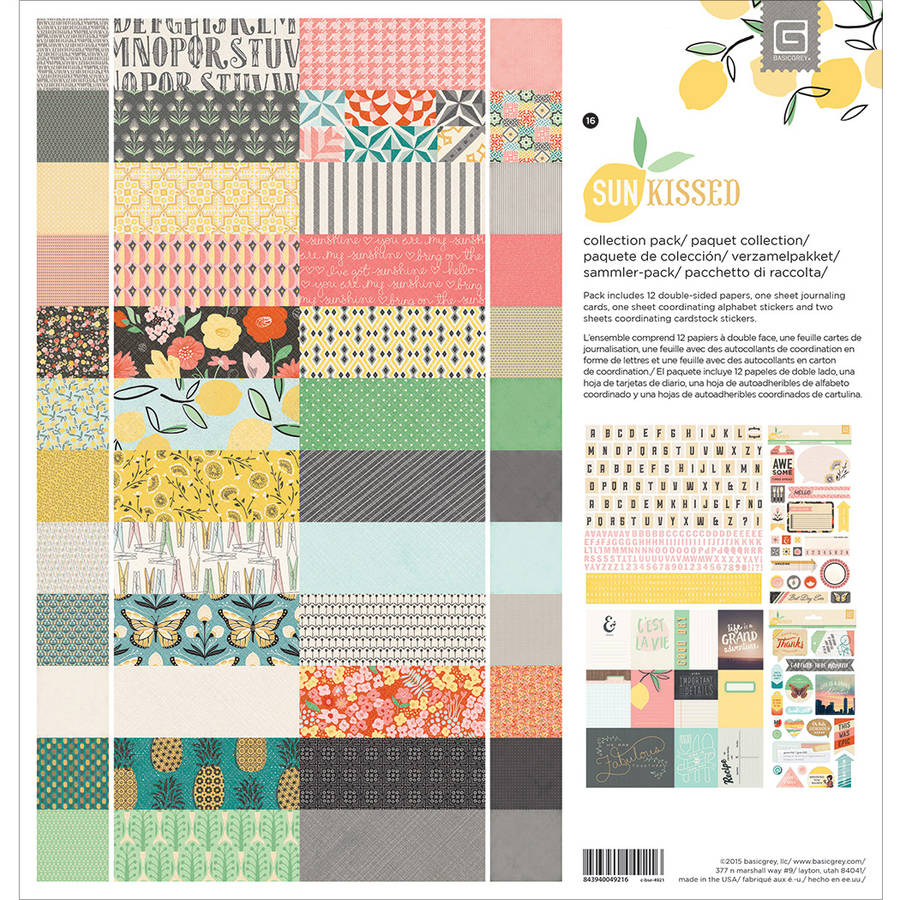 "Basic Grey Collection Pack 12""x12""-sun K"