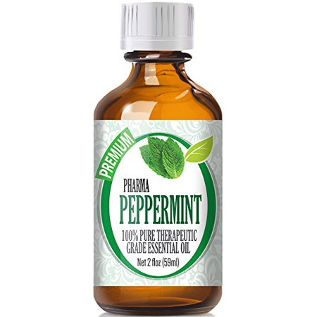 Healing Solutions - Peppermint Oil (60ml) 100% Pure, Best Therapeutic Grade Essential Oil -