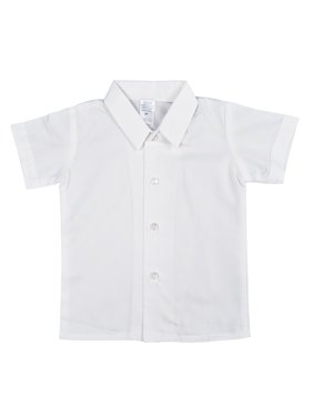 Avery Hill Boys Short Sleeved Simple Dress Shirt in Ivory or White (Baby, Toddler & Little Boys)