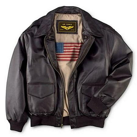 Mens Rambler Brown Bomber - Men's Air Force A-2 Leather Flight Bomber Jacket