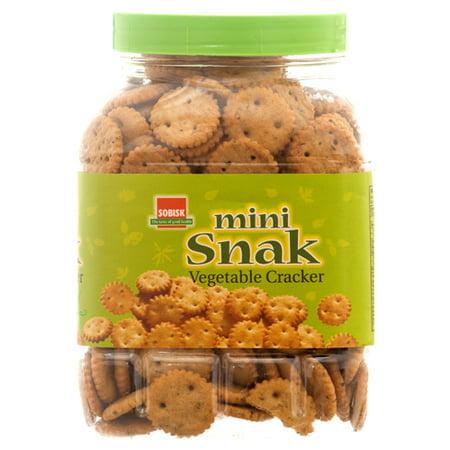 New 343125  Cracker Mini Vegetable 8Z In Tub #Sobisk (12-Pack) Cookies Cheap Wholesale Discount Bulk Snacks Cookies - Vegetable Snacks For Halloween