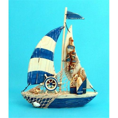 Puzzled 8600 Lovely Sailboat Decor -Pack of 4