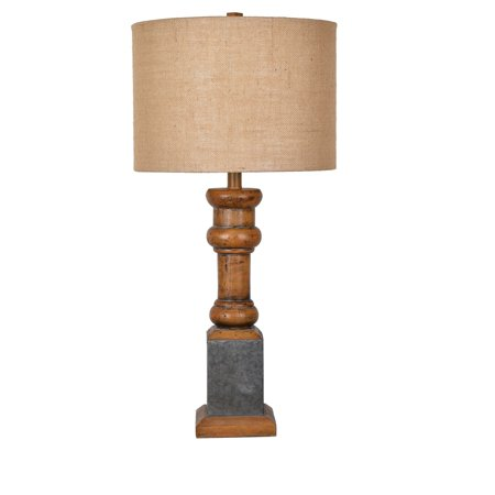 Heirloom 29-Inch Table Lamp, Antique Pine and Galvanized