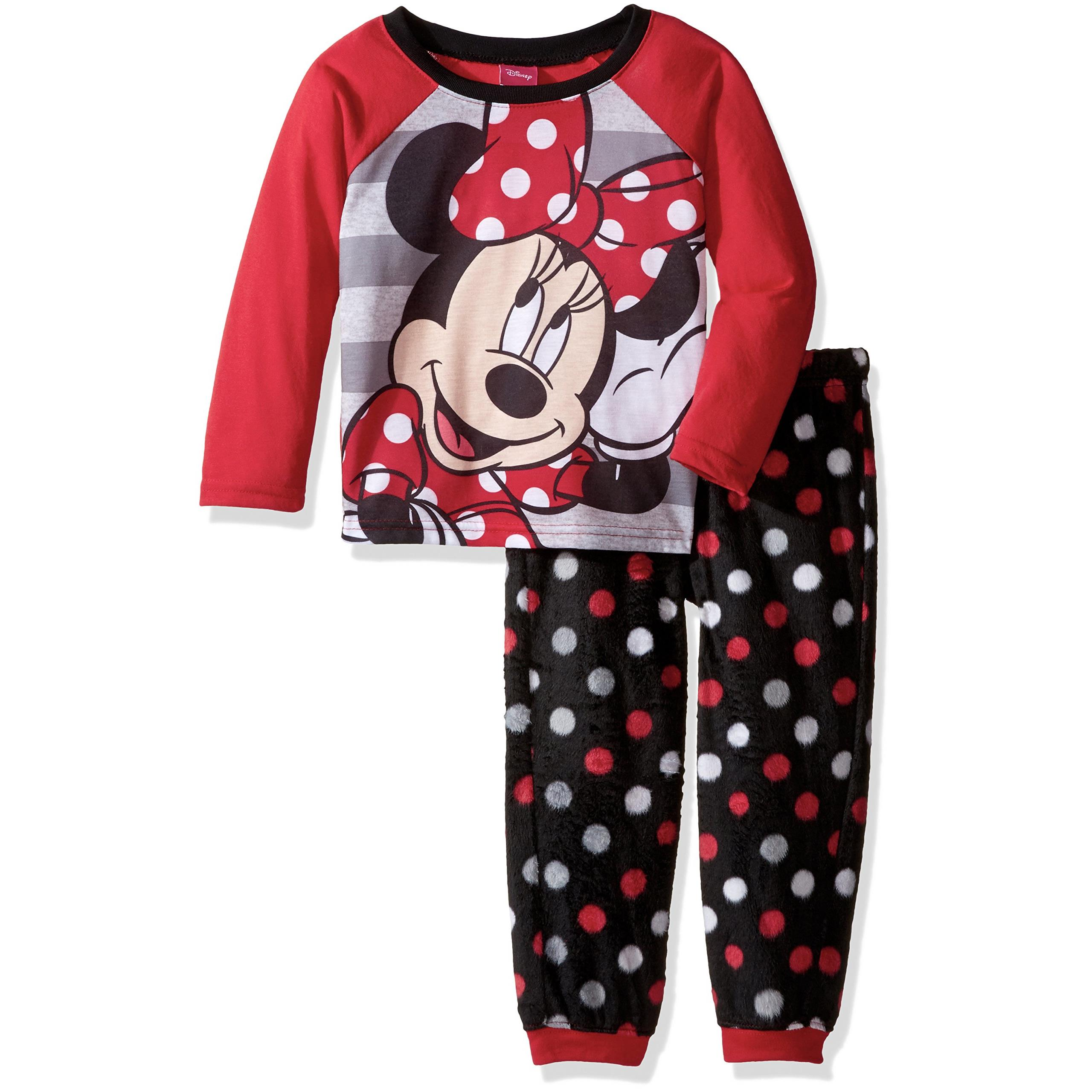 Disney Girls' Minnie Mouse 2-Piece Pajama Jogger Set