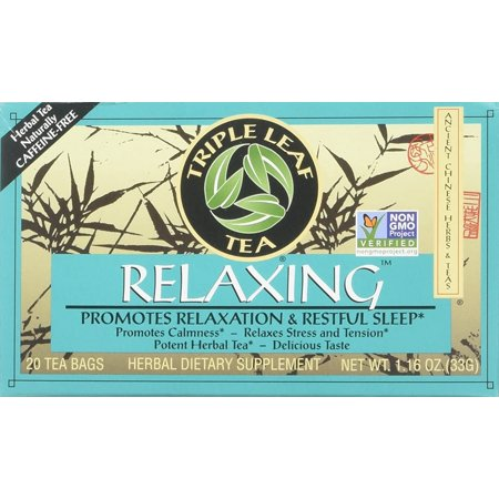 Chinese Medicinal Tea-Relaxing Herbal Tea Triple Leaf Tea 20 Bag