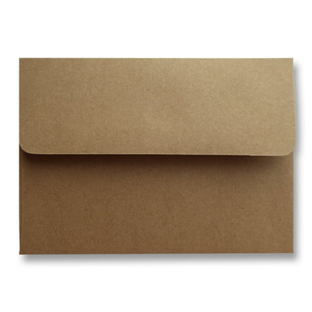 Shipped Free 25 Boxed Kraft Grocery Bag Brown 70lb A2 (4-3/8 x 5-3/4) Envelopes for 4-1/8 X 5-1/2 Enclosures Minis Shower Wedding Invitation Announcement Response Cards from The Envelope Gallery (Wedding Envelope Box)