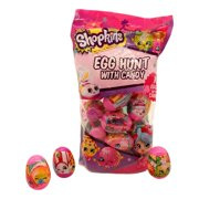 Easter Eggs With Candy (18 Eggs, 2 in) Pre-Filled Plastic Containers, Basket Stuffer, Egg Hunt