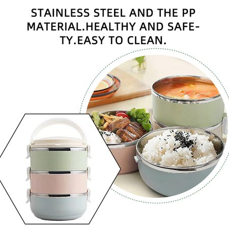 HC-TOP Compact Size Lunch Box Thermal For Food Bento Box Stainless Steel Lunch Box - image 4 de 6