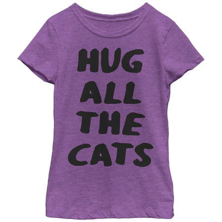 Girls' Hug All the Cats T-Shirt - Hugs Value T-shirt