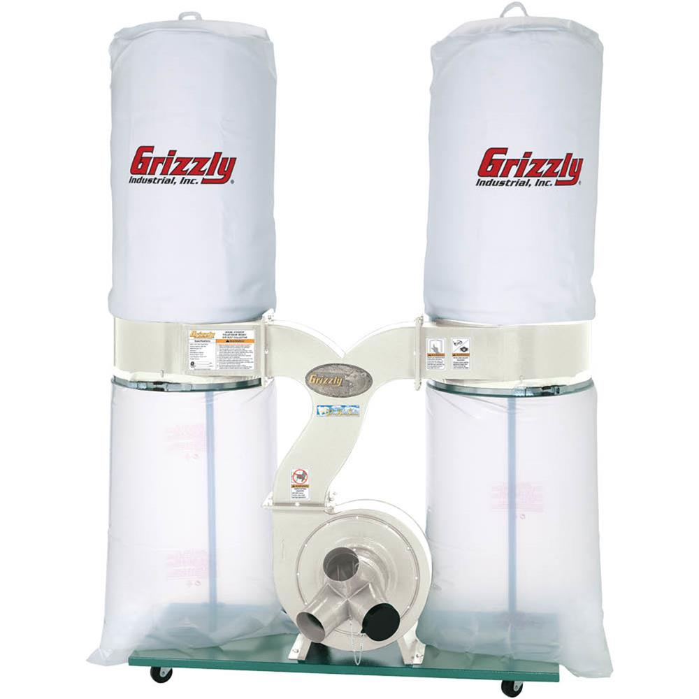 Grizzly G1030Z2P 3 HP Dust Collector with Aluminum Impeller Polar Bear Series by Grizzly