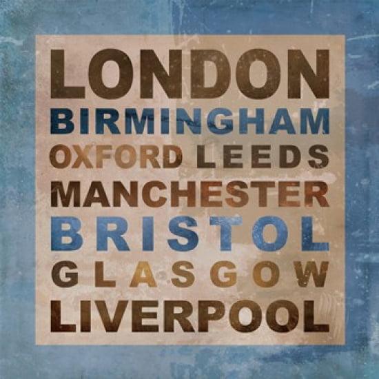 United Kingdom Cities II Poster Print by Veruca Salt (22 x 22)
