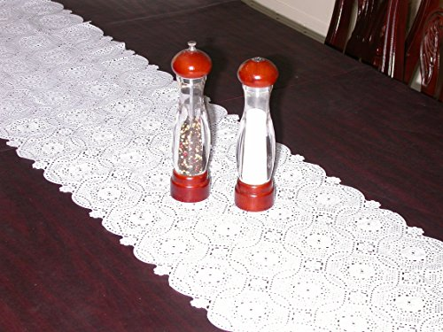 Vinyl Lace Shelf, Cabinet, Pantry Liner Or Table Runner, With Scallop Trim  And