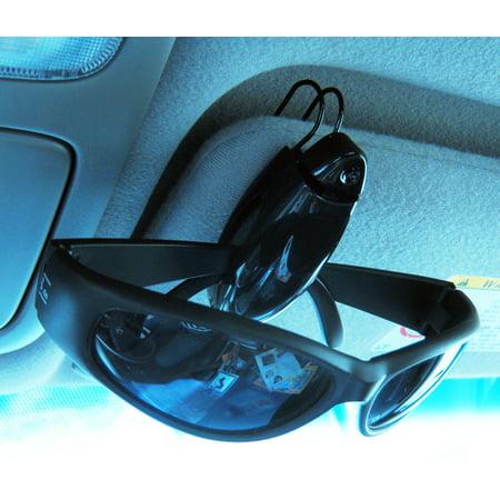- Sunglass Visor Clip Sunglasses Eyeglass Holder Car Auto Reading Glasses Black !!