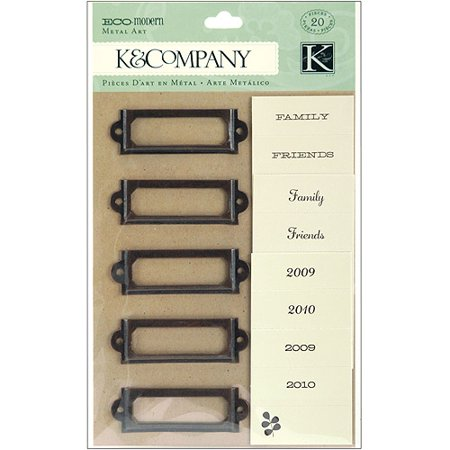 K   Company Eco Modern Metal Art Label Holders And Labels  20 Pieces