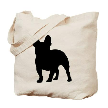 French Bulldog Silhouette - Natural Canvas Tote Bag, Cloth Shopping -