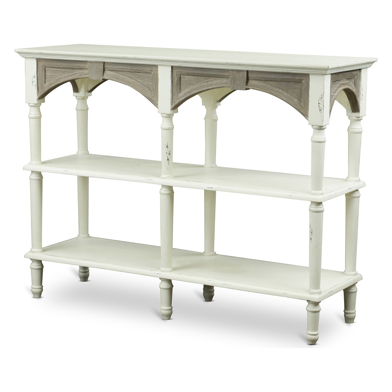 Baxton Studio Touraine Wood Traditional French Accent Console Drapier