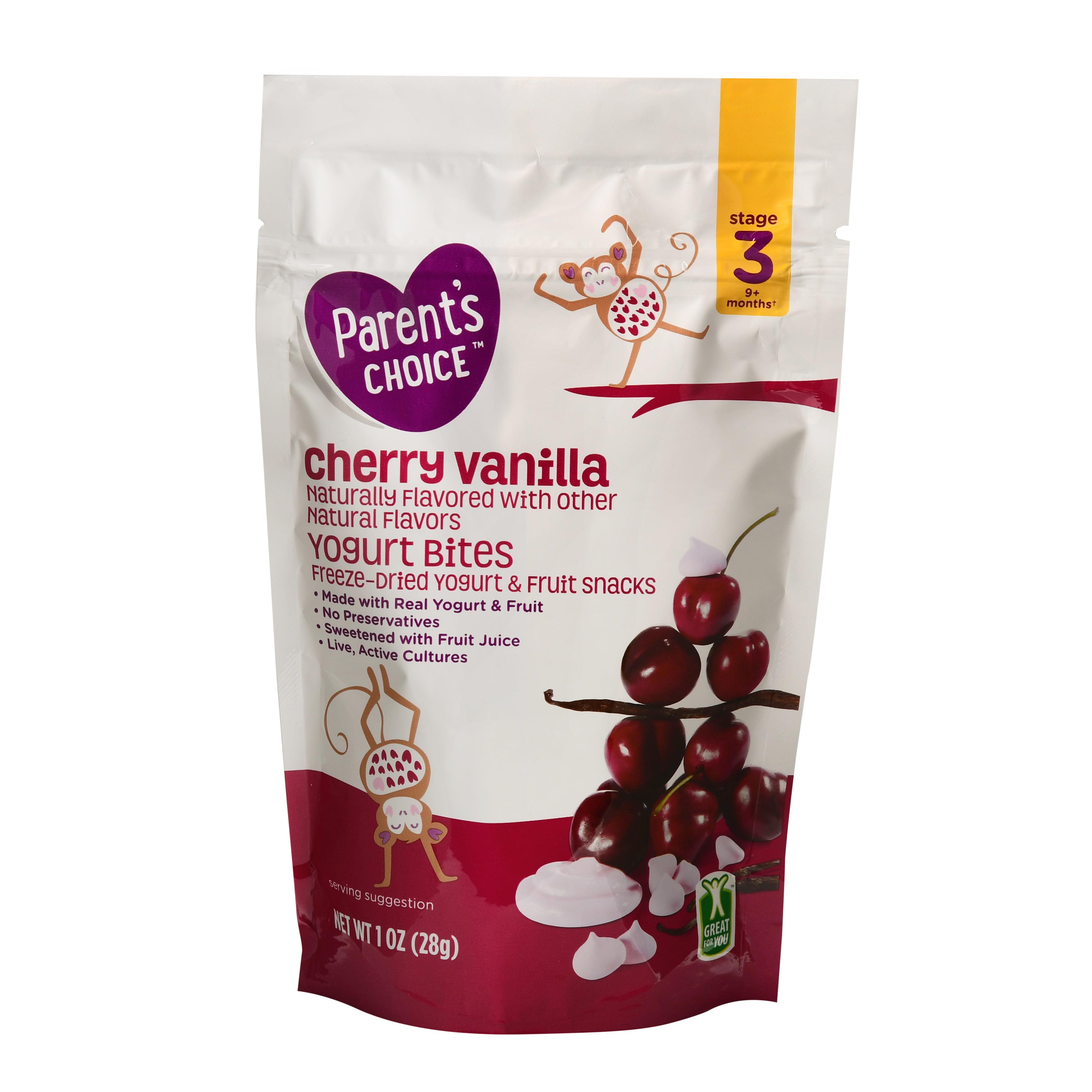 Parent's Choice Yogurt Bites, Cherry Vanilla, Stage 3, 1 oz