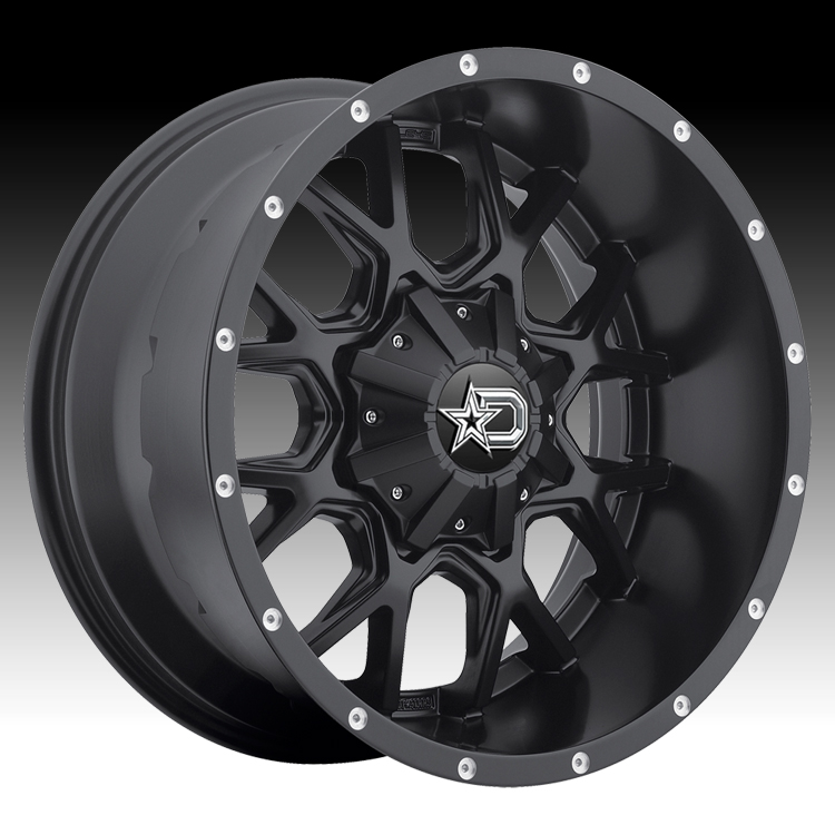 Dropstars 645B Satin Black 20x9 8x6.5 0mm (645B-2098100)