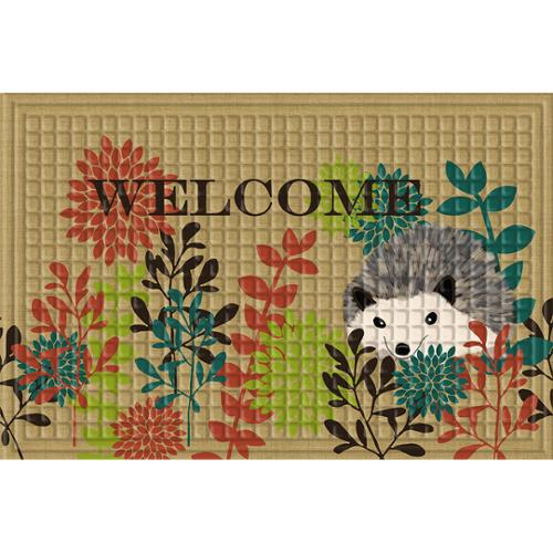 Indoor/ Outdoor Hedgehog Welcome Doormat (24 x 36)