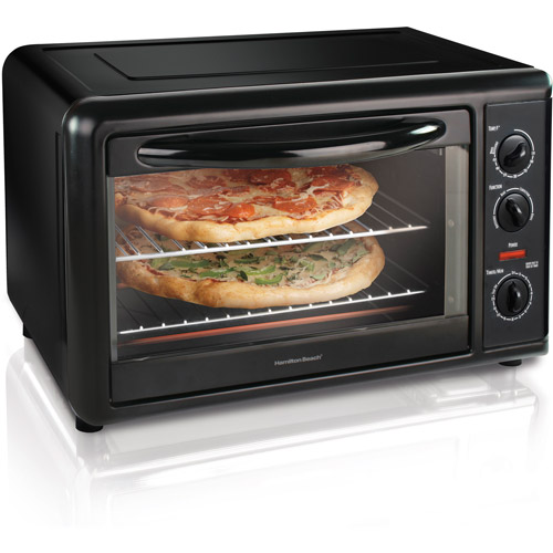 Hamilton Beach Countertop Oven with Convection & Rotisserie, Black