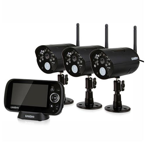 Uniden UDR444 (3 Cameras) Wireless Weatherproof Security System