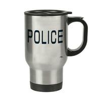 KuzmarK Insulated Stainless Steel Travel Mug 14 oz. - Police