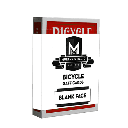 Blank Face Bicycle Cards (Red) (Face Cards Bicycle)