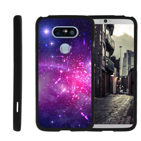 LG G5 H850, H830, H820, LS992, G5 SE, H845, [SNAP SHELL][Matte Black] 2 Piece Snap On Rubberized Hard Plastic Cell Phone Cover with Cool Designs - Heavenly Stars